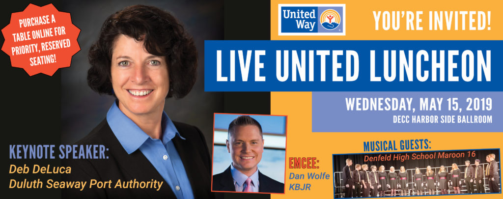 Invitation to LIVE UNITED Luncheon