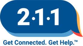 2-1-1 Logo. Get Connected. Get Help.