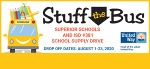 Stuff the Bus School Supply Drive for Lake Superior School District @ Lake Superior School District